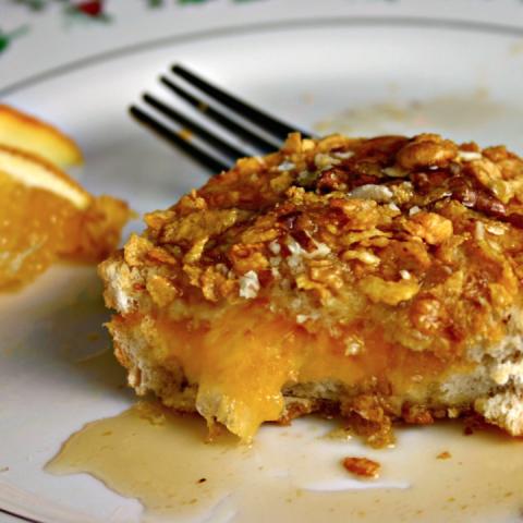 Cornflake Crusted Stuffed Butternut Squash
